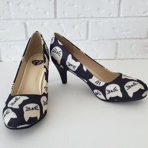NWOT T.U.K. Large Kitty Galore Antipop Heels